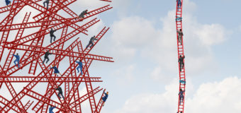 climbing the ledder
