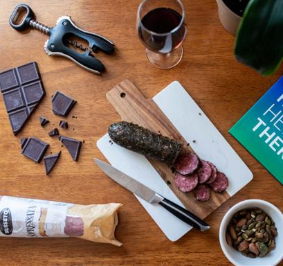 chocolate and salami